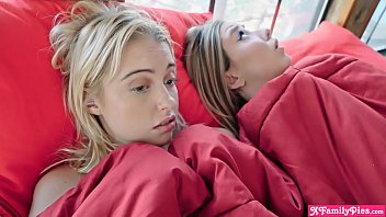 Young blonde step sister teens really dont want to be alone